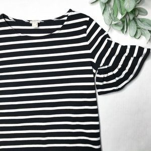 J. CREW | XXS stripe bell sleeve short sleeve top